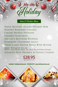 Ho Ho Holiday menu