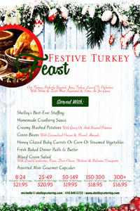 Festive Turkey Feast Menu